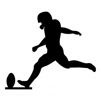 Blank Acrylic Keychain - Football Kicker
