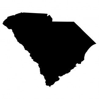 Blank Acrylic Keychain - South Carolina