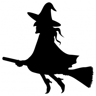 Blank Acrylic Keychain - Witch on a Broom